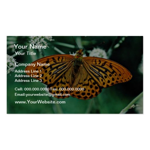 Butterfly  flowers business card template