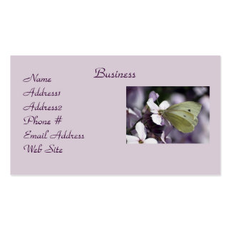 Butterfly & Flowers Business Cards