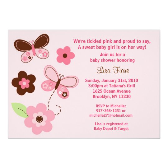 Butterfly flowers custom baby shower invitations zazzle butterfly flowers custom baby shower invitations filmwisefo