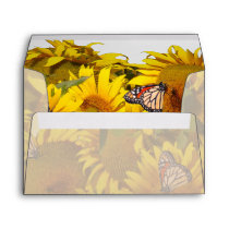 Butterfly Flowers Floral Wildlife Animals Garden Envelope
