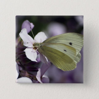 Butterfly & Flowers Gifts Pinback Button