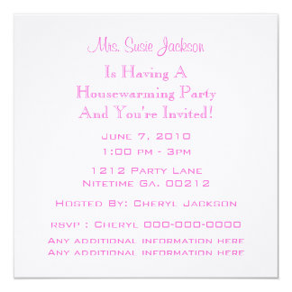 Butterfly & Flowers Housewarming Party Invitations