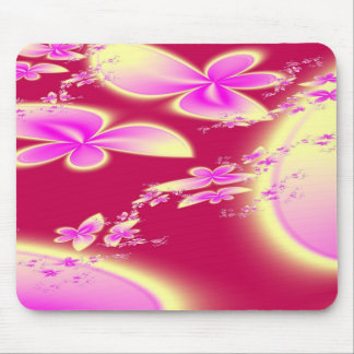 Butterfly Flowers Mouse Pad