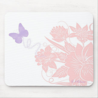 Butterfly flowers mousepad