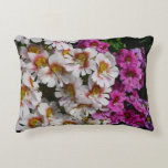 Butterfly Flowers Pink White and Purple Floral Decorative Pillow