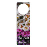 Butterfly Flowers Pink White and Purple Floral Door Hanger
