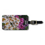 Butterfly Flowers Pink White and Purple Floral Luggage Tag