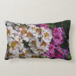 Butterfly Flowers Pink White and Purple Floral Lumbar Pillow