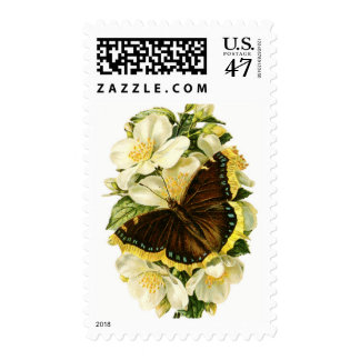 Butterfly Flowers Postage