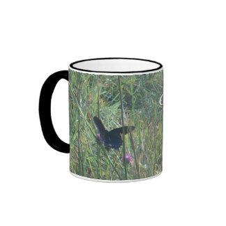 Butterfly & flowers smoky mountain national park ringer mug