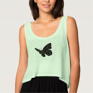 butterfly flowy crop tank top