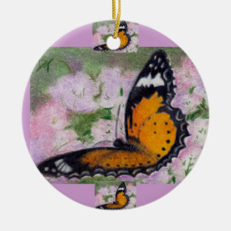 Butterfly Flutter aceo Ornament