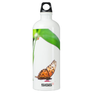 Butterfly fly aluminum water bottle