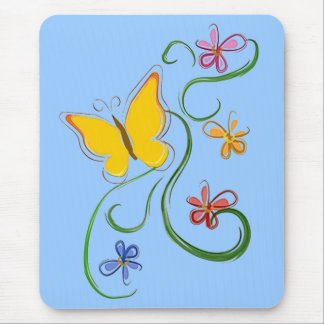 Butterfly Fly Free Mouse Pad
