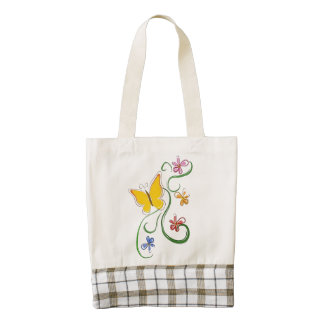 Butterfly Fly Free Zazzle HEART Tote Bag