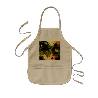 Butterfly flying in the sunset kids' apron