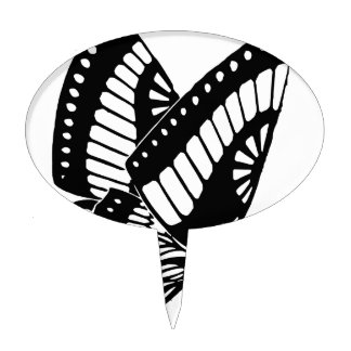Butterfly Flying in the Wind Cake Topper