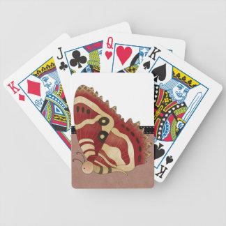 Butterfly Folk Art Bicycle Poker Deck