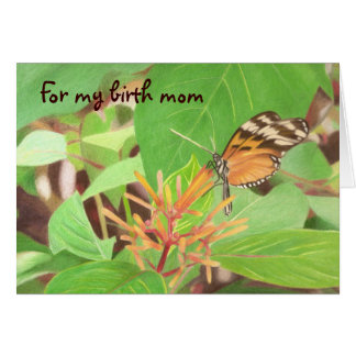 Butterfly for birth mom card