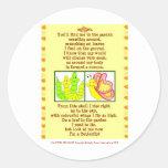 butterfly_form_catterpillar_poem_post_card_post... round sticker