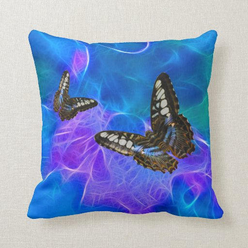 Butterfly & Fractal Beauty Insect-lovers Gift Pillow