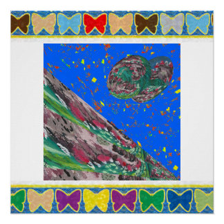 BUTTERFLY Frame replace centre IMG yr PHOTO TEXT Poster
