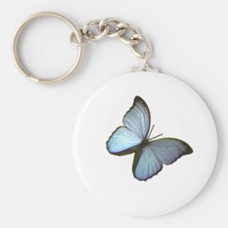 Butterfly Freiburg Germany Blue 45 deg The MUSEUM Key Chain