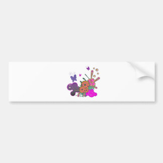 butterfly frenzy vector abstract car bumper sticker