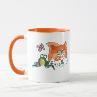 Butterfly, Frog and Kitten Mug