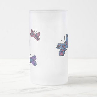 Butterfly Frosted Mug