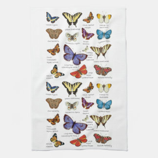 Butterfly Full Color Illustrations popular types Hand Towel