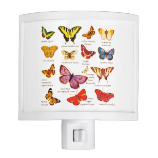 Butterfly Full Color Illustrations popular types Night Light
