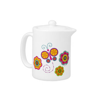 Butterfly Garden 11 oz Porcelain Tea Pot TBA
