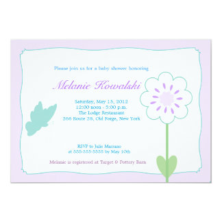 Butterfly Garden 5x7 Baby Shower Invitation