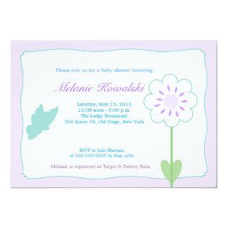 Butterfly Garden 5x7 Baby Shower Invitation