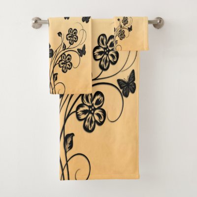 Butterfly Garden Bath Towel Set