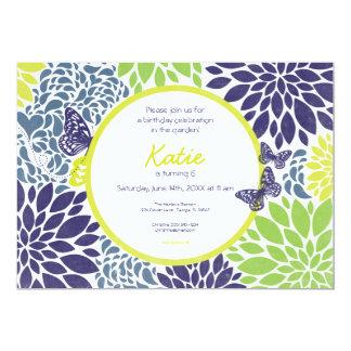 Butterfly Garden Birthday Invitation