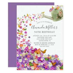 Butterfly Garden Birthday Party Invitation