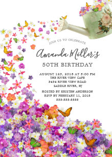 Butterfly Garden Invitations