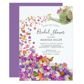 Butterfly Garden Bridal Shower Invitation