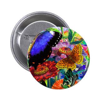 Butterfly Garden 2 Inch Round Button