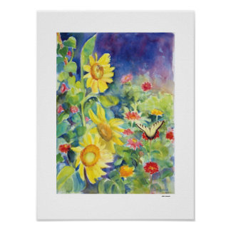 Butterfly Garden, by Sue Ann Jackson Poster