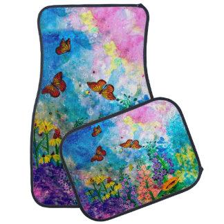 Butterfly Garden Car Mat (Set of 4)