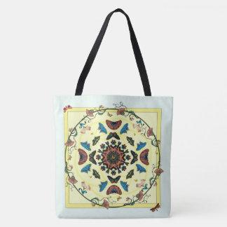 Butterfly Garden Circular Abstract Tote Bag