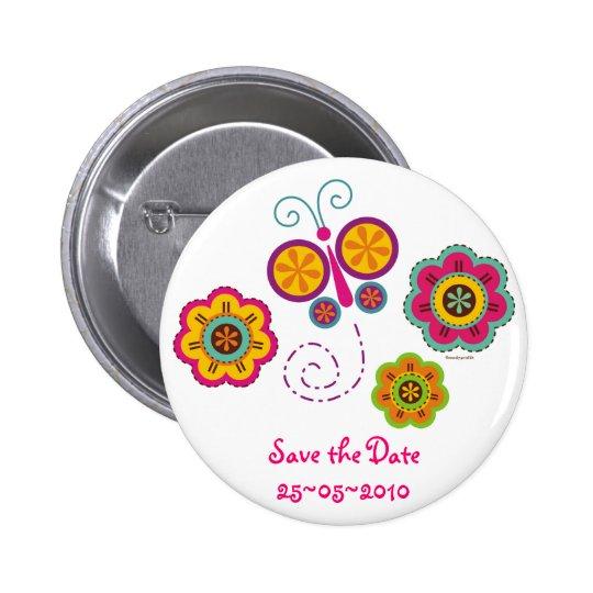 Butterfly Garden Custom Pinback Button