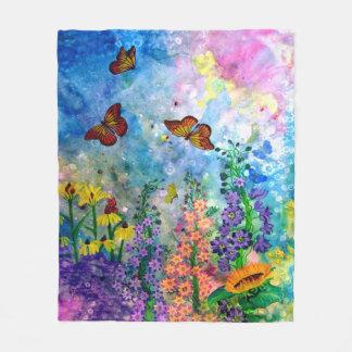 Butterfly Garden Fleece Blanket