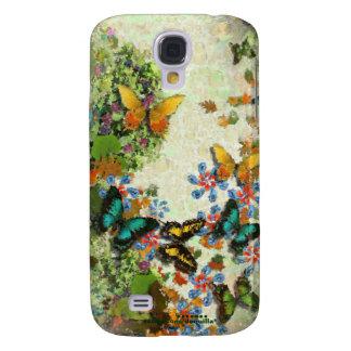 BUTTERFLY GARDEN Floral Design Samsung Galaxy S4 Case