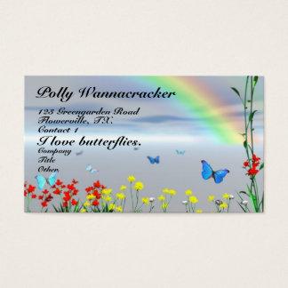 Butterfly Garden Flowers Business Card