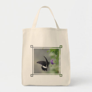 Butterfly Garden Grocery Tote Bag