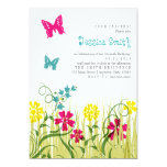 Butterfly Garden in Bright Colors Custom Invitation